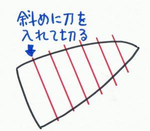 白菜の芯の切り方