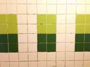 浴室のタイルのカビ