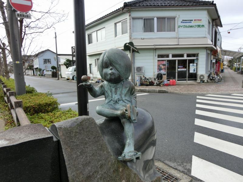 鬼太郎のブロンズ像