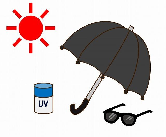 日傘やサングラス