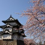 弘前公園と城