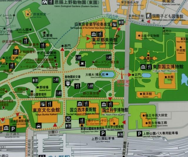 上野の地図