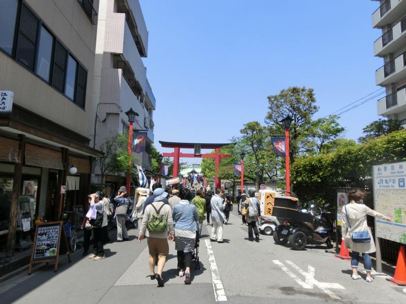 亀戸天神社参道