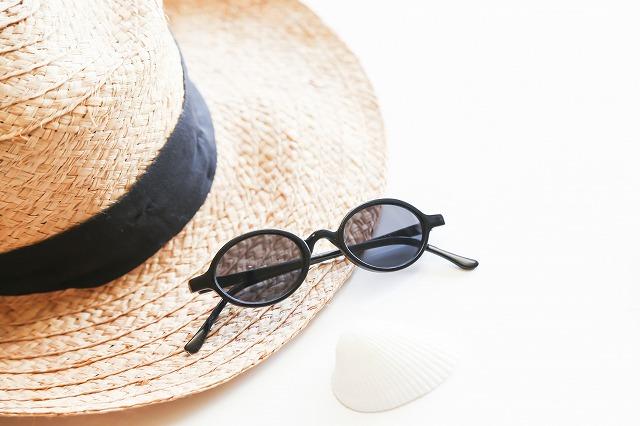 帽子とサングラス