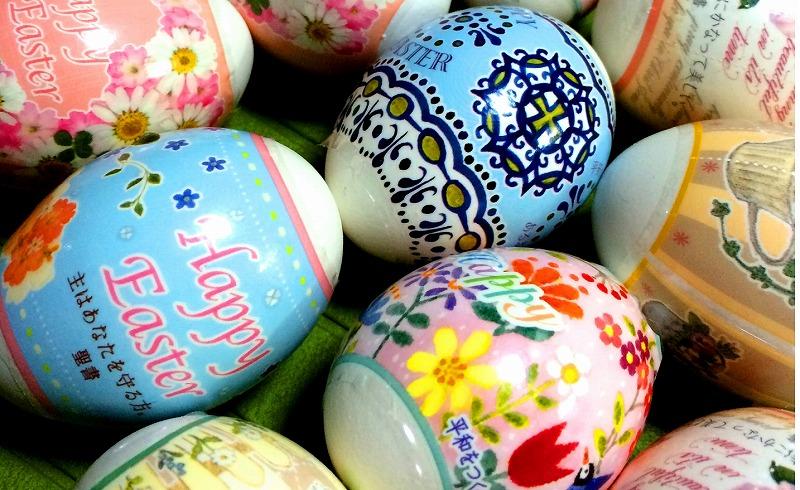 ペイントしてある卵
