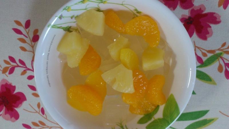 果物と寒天