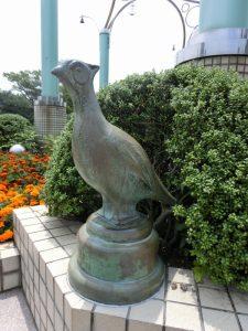 センター広場の小動物像