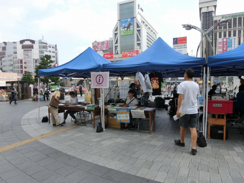 錦糸町駅前のテント
