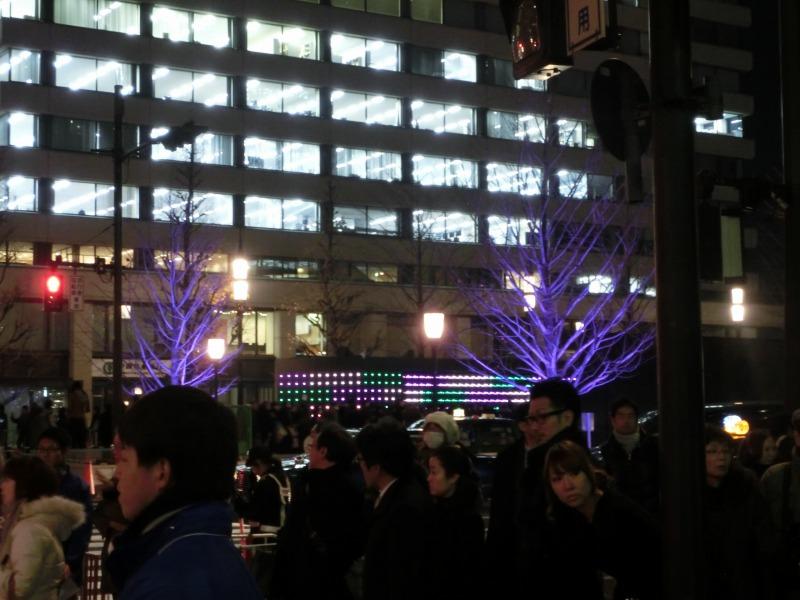 東京駅前周辺の様子