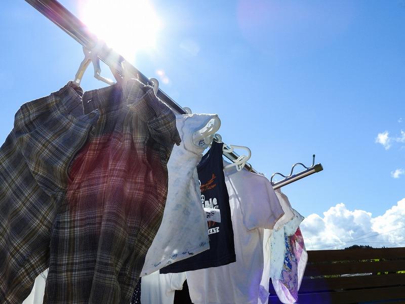 晴れた日の洗濯物