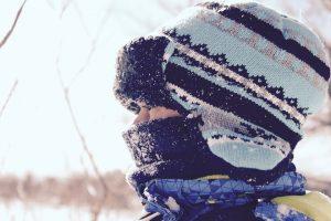 ニットの帽子