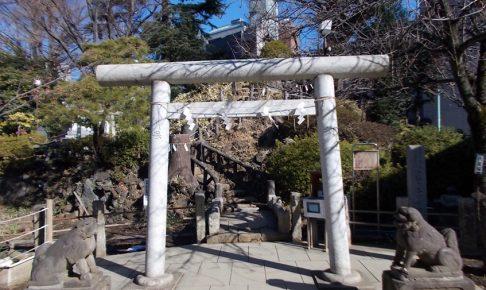富士塚登山道入り口