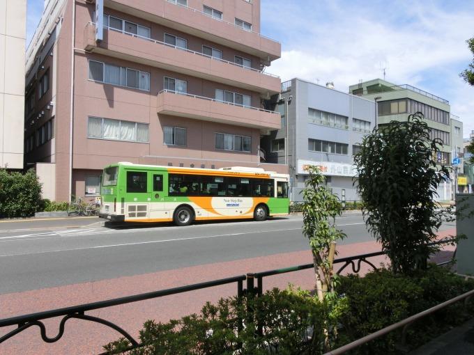 北砂二丁目に来たバス