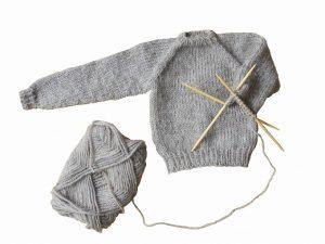 網掛けのセーター