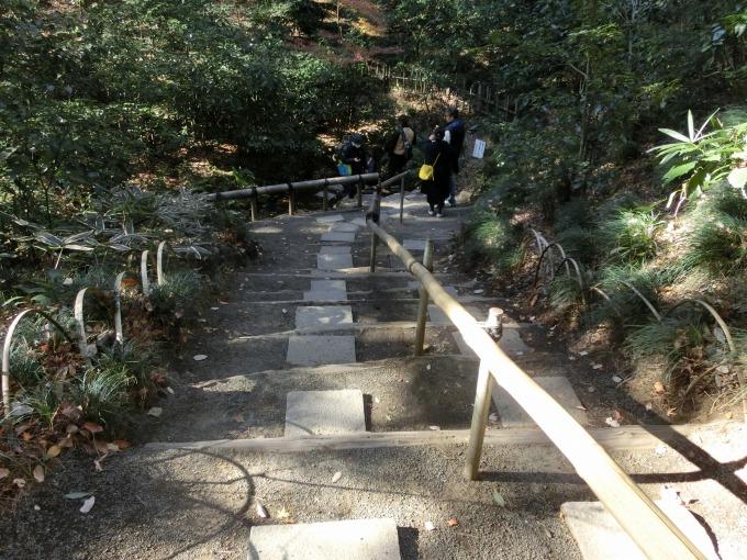 清正井への階段